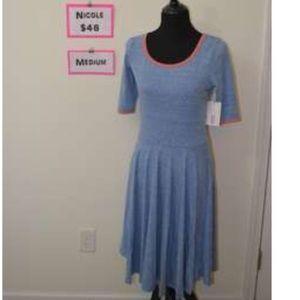 Nicole Lularoe Blue Dress - NWT